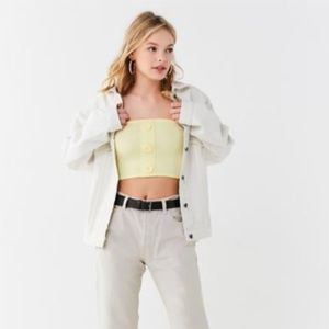Urban Outfitters crop top - yellow
